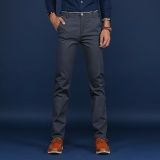 Casual Business Men Straight Cotton Pant Slim Male Trousers Intl Coupon