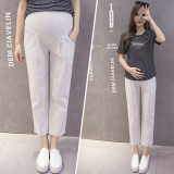 Who Sells The Cheapest Men S Casual Cotton Linen Abdominal Support Leggings Pregnancy Pants Light Gray Color Online