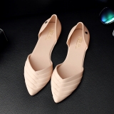 Buy Casual Female Pointed Student Jelly Shoes Shoes Pink Color