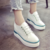 Discount Women S Korean Style Platform Shoes Black White Green Green Green Other China