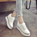 Coupon Women S Korean Style Platform Shoes Black White Green White White
