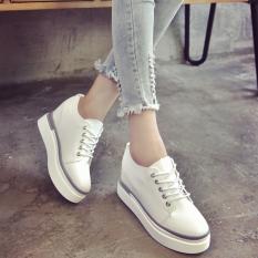 Great Deal Women S Korean Style Platform Shoes Black White Green White White
