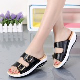 Sale Casual Leather Outdoor Women S Sandals And Slippers Shoes Sandals Black Oem Wholesaler
