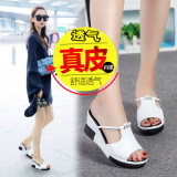 Sale Aishuyun Women S Elevator Real Leather Sandals Z11 White Z11 White On China