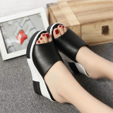 Aishuyun Women S Elevator Real Leather Sandals Z33 Black Z33 Black Coupon Code
