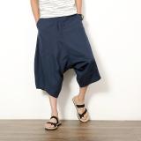 Casual Linen Black Plus Sized Harlan Pants Men Shorts Dark Blue Color Review