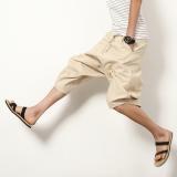 Sale Casual Linen Black Plus Sized Harlan Pants Men Shorts Off White Color Other Online