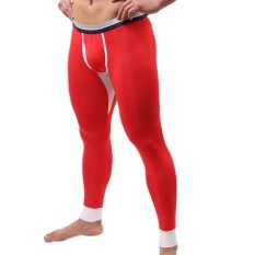 Coupon Casual Long Johns Modal Soft Warm In Winter Outdoor Thermal Underwear For Men Red Intl