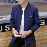 Great Deal Casual Male Spring And Autumn New Style Men S Jacket Dark Blue Color