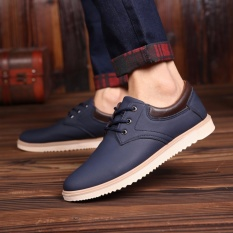 Casual Men S Shoes Spring Autumn Sneakers Fashion Breathable Trending Shoes Blue Intl Sale