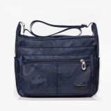 Best Price Nylon Large Capacity Waterproof Multi Pocket Diaper Bag Shoulder Women S Bag Camouflage Blue