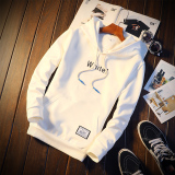 Cheapest Casual Sports Hooded Sweater Men S Hoodie W673 White Online