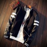 Men S Korean Style Casual Jacket Black White Black Black On China