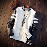Compare Men S Korean Style Casual Jacket Black White White White Prices