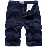 Lowest Price Men S Casual Summer Men Summer Short Loose Fit Cargo Pants Dark Blue Color Dark Blue Color