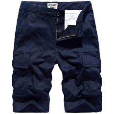 Men S Casual Summer Men Summer Short Loose Fit Cargo Pants Dark Blue Color Dark Blue Color On China