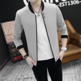 Best Offer Men S Casual Thin Slim Korean Coat Jacket For Men Gray Gray