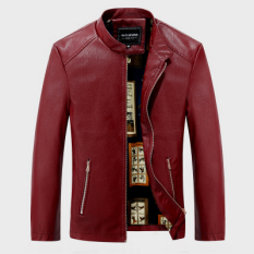 Spring Haining Men Locomotive Leather Coat Slim Jacket Youth Leisure Stand Collar Large Size Korean Style Leather Jacket Coat By Taobao Collection.