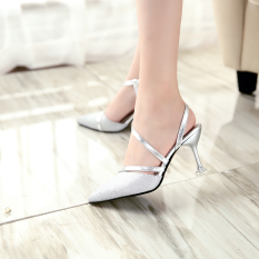 Discount Pointed Summer Autumn And Pearl Sequins Cat With Shoes Sandals High Heeled Shoes 188 Silver 188 Silver