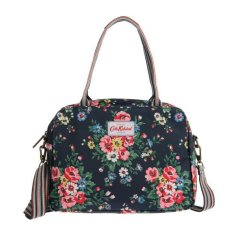 Who Sells Cath Kidston Matt Oilcloth Busy Bag Folk Flowers Midnight Blue Export