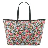 Cath Kidston Matt Oilcloth Large Trimmed Tote 16Aw Orchard Blossom Pattern Colour Charcoal 579452 Intl In Stock