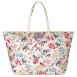 Cath Kidston Matt Oilcloth Large Trimmed Tote 16Ss Blossom Birds Colour Cream 555913 Best Buy