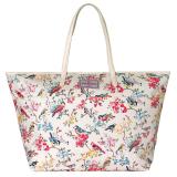 Discount Cath Kidston Matt Oilcloth Large Trimmed Tote 16Ss Blossom Birds Colour Cream 555913
