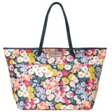 Cath Kidston Matt Oilcloth Large Trimmed Tote Daisy Bed Pattern Colour Navy 555982 Intl Deal