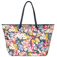 Price Cath Kidston Matt Oilcloth Large Trimmed Tote Daisy Bed Pattern Colour Navy 555982 Intl Online Singapore