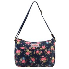 Great Deal Cath Kidston Matt Oilcloth The All Day Bag Crossbody Handbag 16Ss Latimer Rose Colour Dark Navy 556637 Intl