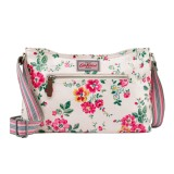Cath Kidston Matt Oilcloth Zipped Crossbody Bag Small Size Shoulder Handbag Thorp Flowers Cream Colour 579520 Intl Best Price