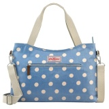 Store Cath Kidston Matt Oilcloth Zipped Handbag With Detachable Strap Polka Button Spot Denim Blue 546102 Intl Cath Kidston On Singapore