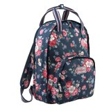 Sale Cath Kidston Multi Pocket Backpack Matt Oilcloth Rucksack 16Aw Forest Bunch Colour Navy Fitting 13 Laptop 597852 Intl