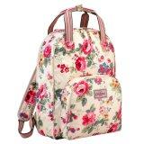 Buy Cheap Cath Kidston Multi Pocket Backpack Matt Oilcloth Rucksack Clarendon Rose 16Ss Colour Cream Fitting 13 Laptop 557696