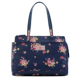 Buy Cath Kidston Multi Pocket Handbag Top Handle Bag 17Ss Mallory Bunch Colour Navy 670142 Intl On United States