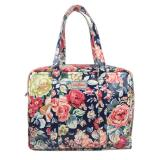 Compare Price Cath Kidston Oilcloth Large Zip Bag Shoulder Tote 16Aw Greenwich Rose Colour Navy 685443 Intl On Singapore