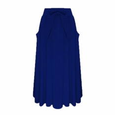 Buying Celmia Women Casual Gypsy Long Skirts Cotton Vintage Maxi Skirts Dark Blue Intl