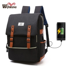 Latest Charger Usb Line Big Size Unisex Canvas Waterproof Travel Sch**l Computer Bag Backpack Color First Pic Size 42X13X30Cm Intl