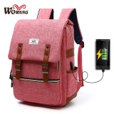 Charger Usb Line Big Size Unisex Canvas Waterproof Travel Sch**l Computer Bag Backpack Color First Pic Size 42X13X30Cm Intl Compare Prices