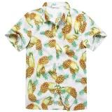 Charmkpr Mens Plus Size Hawaiian Pineapple Printing Loose Sunscreen Summer Shirt White Intl For Sale Online