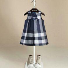 Price Checkerd Dress 100Cm Navy Blue On Singapore