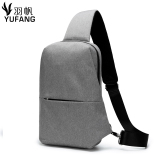 Chest Pack Men S Korean Version Of The Daily Influx Messenger Bag Casual Canvas Shoulder Bag Pockets Male Outdoor Sports Small Backpack Male Bag Gray Cheap