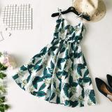 Buy Women S Korean Style V Neck Strapped Dress Dark Blue White Cheap China