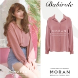 Buy Chic Sweet G*Rl S Pink Long Sleeved Women S Shirt Open Collar Shirt