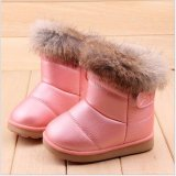 Price Comparisons Of Child Girls Kids Winter Warm Booties Leather Rabbit Fur Shoes Snow Ankle Boots