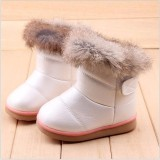 Review Child Girls Kids Winter Warm Booties Leather Rabbit Fur Shoes Snow Ankle Boots Intl Not Specified