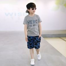 Store Children Children S Clothing Boys Summer 2017 New Style Cotton Casual Short Sleeved Sports Suit Small Medium Large Boy Summer Influx Of Baby Oem On China