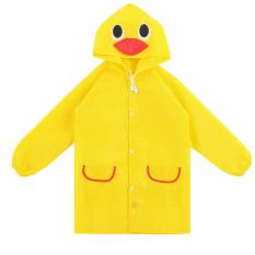 Children Kids Cartoon Animal Pattern Rain Coat Waterproof Raincoat Yellow Duck - Intl By Vococal Shop.