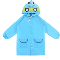 Children Kids Cartoon Car Pattern Rain Coat Waterproof Raincoat Blue - Intl By Vococal Shop.