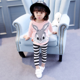 Children S Clothing Female Baby Autumn Suit Baby Clothes 1 3 Year Old 4 6 Girls Spring Models Cotton Hoodie Two Piece Sets Cheap